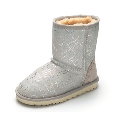 Girl's Suede Flat Heel Closed Toe Snow Boots Ankle Boots Boots With Sequin