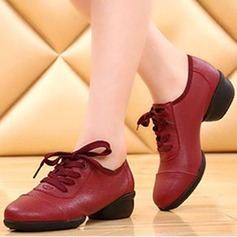 Unisex Leatherette Fabric Flats Sneakers Dance Shoes