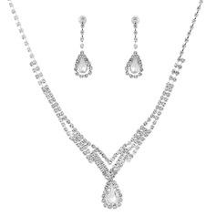 Klassisk stil Strass/koppar med Strass Damer' Smycken Sets