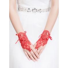 Тюль/Кружева Наручные длина Партии/мода перчатки/Свадебные перчатки