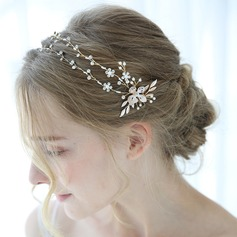 Classic Alloy Headbands With Rhinestone/Venetian Pearl (Sold in single piece)