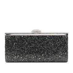 Elegante Espumante Glitter Embreagens/Embreagens de Luxo