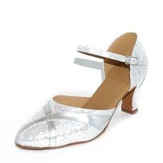 Kvinnor Glittrande Glitter Klackar Bal Dansskor