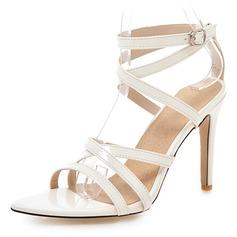 Vrouwen Kunstleer Stiletto Heel Sandalen Pumps Peep Toe met Gesp schoenen