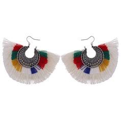 Vackra Och koppar med Tofsar Kvinnor Mode örhängen