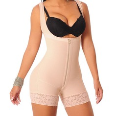 Women Feminine/Classic Cotton Blends Bodysuit/Shorts Shapewear