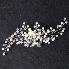 Ladies Elegant Alloy/Imitation Pearls Combs & Barrettes With Venetian Pearl (042138717)