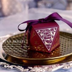 Láska navždy diamantový tvar Papírový papír Dárkové krabičky S stuhy (Sada 30)
