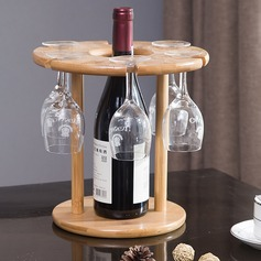 Wine Rack Wooden Simple Elegant Table Centerpieces