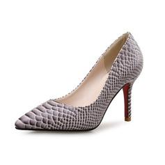 De mujer Cuero Tacón stilettos Salón con Estampado de animales zapatos