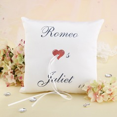 Elegant/Chic/Personalized Satin Ring Pillow With Ribbons
