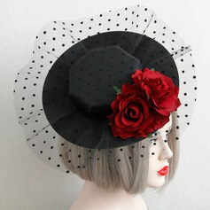 Dames Style Vintage Coton/Dentelle Chapeaux de type fascinator/Chapeaux Tea Party