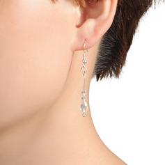 Élégante Plastique Dames Boucles d'oreilles