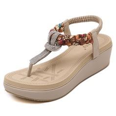 De mujer Cuero Tipo de tacón Sandalias con Rhinestone zapatos