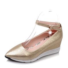 Naisten PVC Wedge heel Kiilat jossa Solki kengät