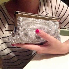 Bright Crystal/ Rhinestone/PU Clutches/Satchel