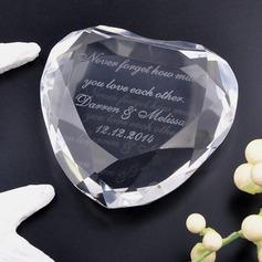 Personalizado En forma de Corazón Crystal recuerdo
