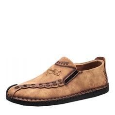 Мужская кожа из микроволокна Пенни Лоафер вскользь Men's Loafers