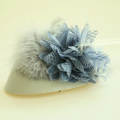 Dames Beau Feather/Fleur en soie Chapeaux de type fascinator