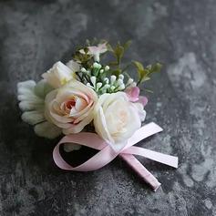 Hånd Bundet Kunstige Blomster Blomstersett (sett av 2) - Håndledd Corsage/Boutonnie