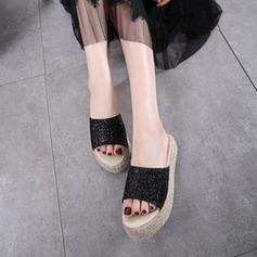 Kvinnor Glittrande Glitter Kilklack Platta Skor / Fritidsskor Tofflor med Glittrande Glitter skor