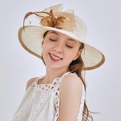 Señoras' Niza/Pretty Batista con Flor Sombreros Playa / Sol/Derby Kentucky Sombreros/Sombreros Tea Party