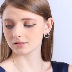Brillant Cuivre/Zircon de/Argent 925/De faux pearl Dames Boucles d'oreilles