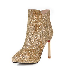 Women's Sparkling Glitter Stiletto Heel Ankle Boots shoes