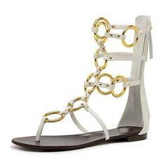 Kvinner PVC Flat Hæl Sandaler Flate sko Titte Tå sko