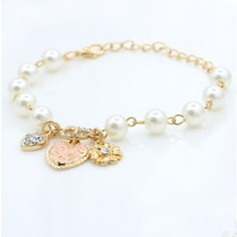 Lovely Alloy With Imitation Pearl Women's Fashion Bracelets (Sold in a single piece)