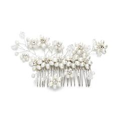 Damer Elegant Rhinestone/Imitert Perle Kammer og Barrettes med Rhinestone/Venetianske Perle (Selges i ett stykke)