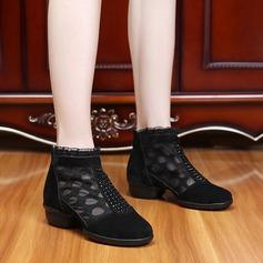 De mujer Piel Encaje Malla Zapatillas Estilo Moderno Jazz Zapatillas Zapatos de danza