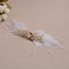 Elegant Alloy/Feather Hairpins