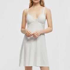 Brude/Feminin Simpelt og Elegante Polyester/Elasthan/Modale nattøj/Brudeundertøj/Slips
