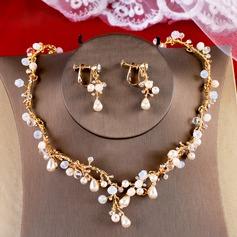 Maravilloso Crystal/La perla de faux con La perla de faux Señoras' Sistemas de la joyería
