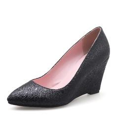 De mujer Brillo Chispeante Tipo de tacón Cuñas con Otros zapatos