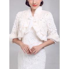 Polyester Mode Bolerojackor