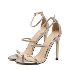 Femmes Similicuir Talon stiletto À bout ouvert Sandales Beach Wedding Shoes