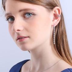 Romantisk kobber/Zirkon/925 Sterling Sølv/Imitert Perle Damene ' øredobber