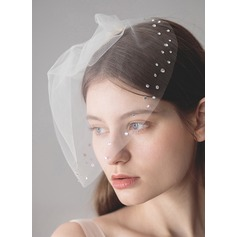 One-tier Birdcage Veils With Rhinestones