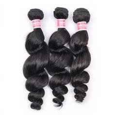 4A En vrac les cheveux humains Tissage en cheveux humains (Vendu en une seule pièce)