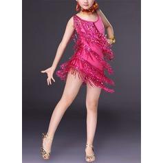 Per bambini Abbigliamento danza Dello spandex Ballo latino Abiti