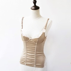 Feminine/Classic Polyester/Spandex Tanks And Camis With Lace Shapewear
