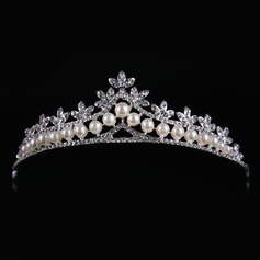 Ladies Classic Alloy/Imitation Pearls Tiaras (042122771)
