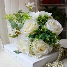 Simples et élégant Forme libre Satiné Bouquets de mariée -