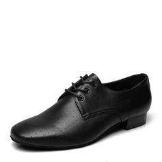 De los hombres Piel Danza latina Estilo Moderno Sala de Baile Swing con Cordones Zapatos de danza (053146799)