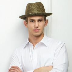 Unisex Moda Verão Poliéster com Chapéu de Coco / Cloche de Chapéu
