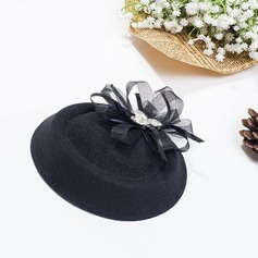 Dames Beau Fil net Chapeau melon / Chapeau cloche/Chapeaux Tea Party
