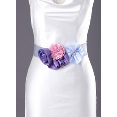Lovely Satin Sash With Beading/Flower (015003403)