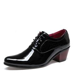 Men's Patent Leather Casual Men's Oxfords
